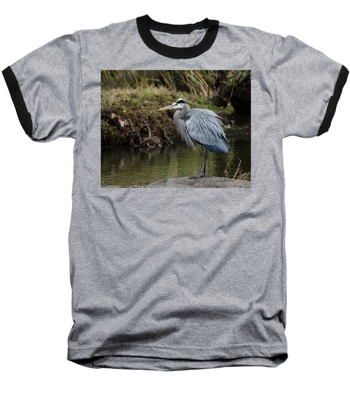 Great Blue Heron On The Watch Baseball T-Shirt