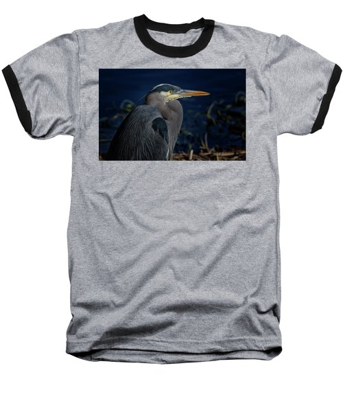 Baseball T-Shirt featuring the photograph Great Blue Heron by Randy Hall