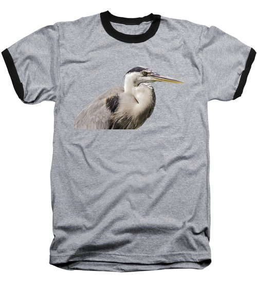 Great Blue Heron Transparency Baseball T-Shirt