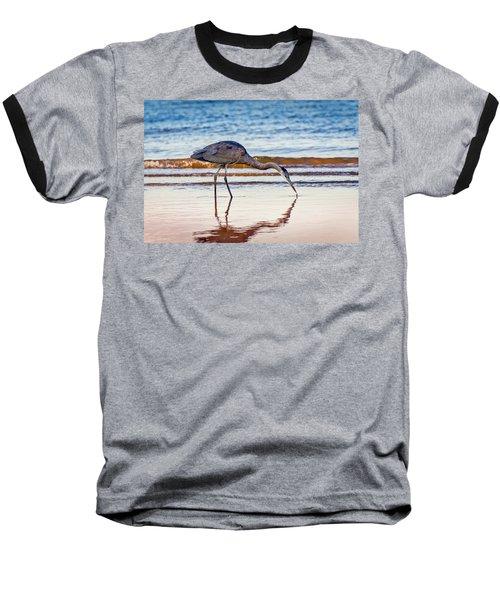 Great Blue Heron Twilight Baseball T-Shirt