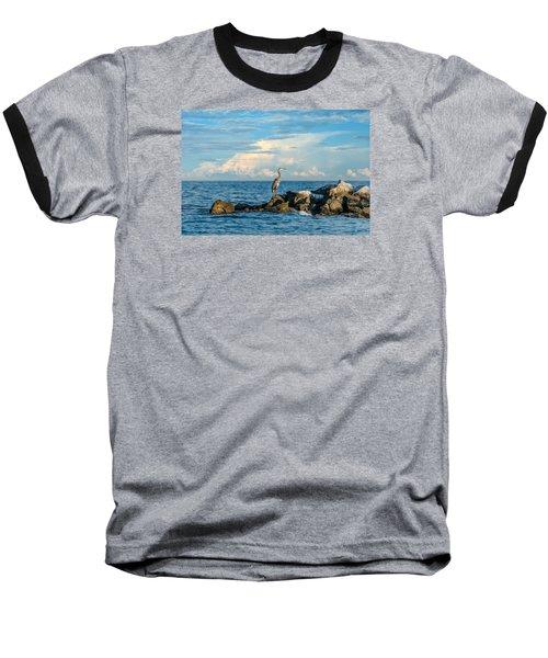 Great Blue Heron World Baseball T-Shirt
