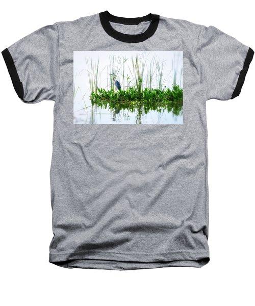 Great Blue On Green Island Baseball T-Shirt