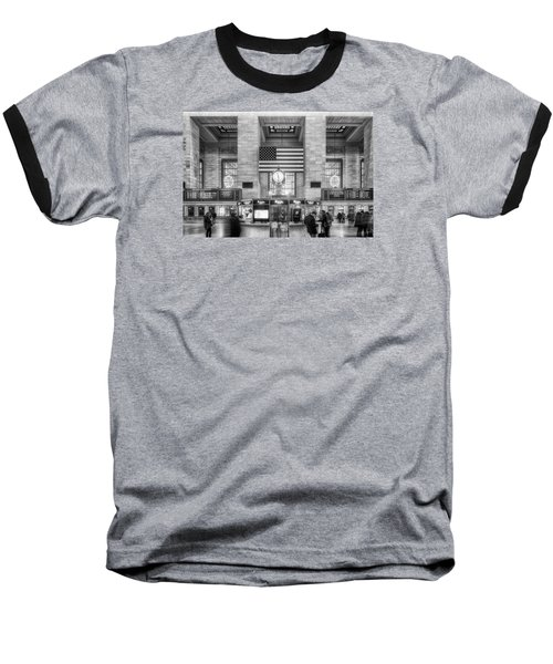 Great Central Station Baseball T-Shirt by Sabine Edrissi