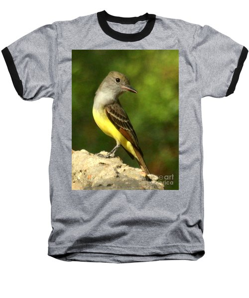 Baseball T-Shirt featuring the photograph Great Crested Flycatcher by Myrna Bradshaw
