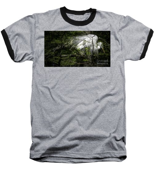 Great Egret #2 Baseball T-Shirt