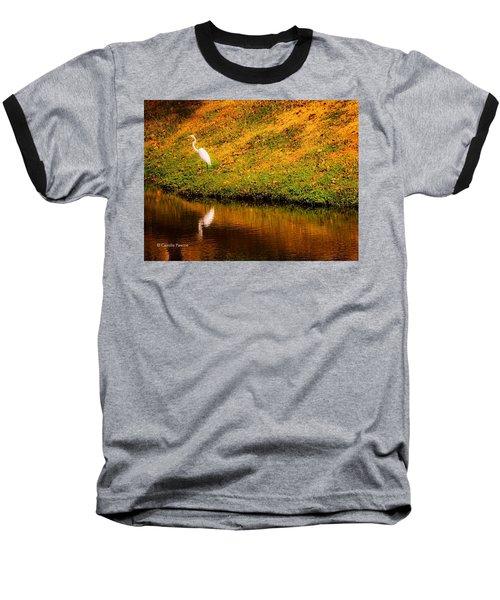 Great Egret At The Lake Baseball T-Shirt