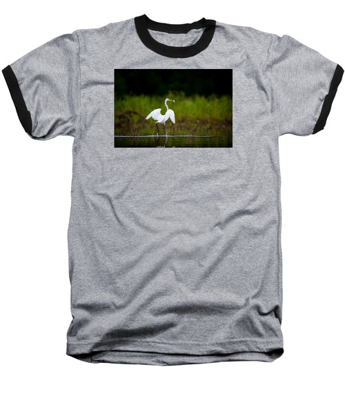 Great Egret, Great Fisherman Baseball T-Shirt