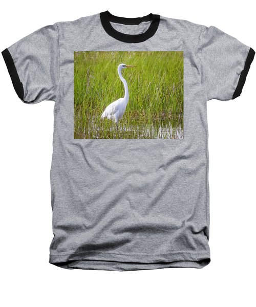 Baseball T-Shirt featuring the photograph Great Egret In The Spring  by Ricky L Jones