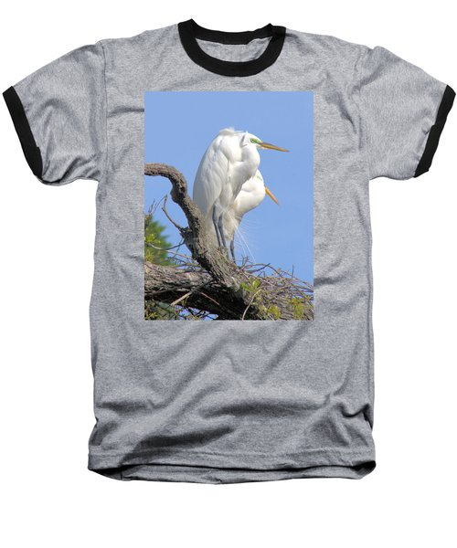 Baseball T-Shirt featuring the photograph Great Egret by Marion Johnson