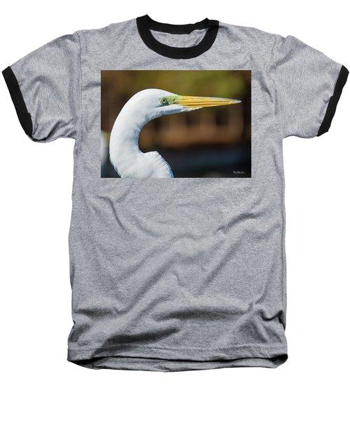 Great Egret Baseball T-Shirt