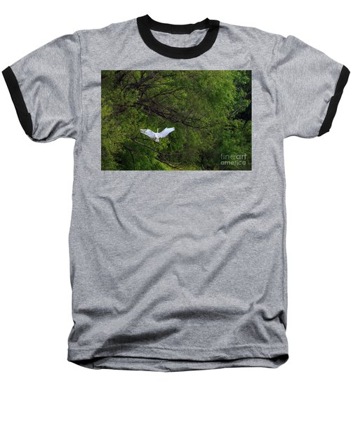Great Egrets In The Shore Baseball T-Shirt