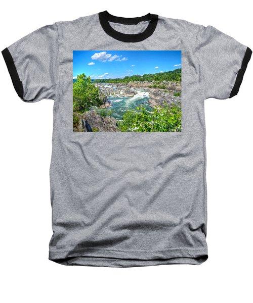 Great Falls On The Potomac Baseball T-Shirt