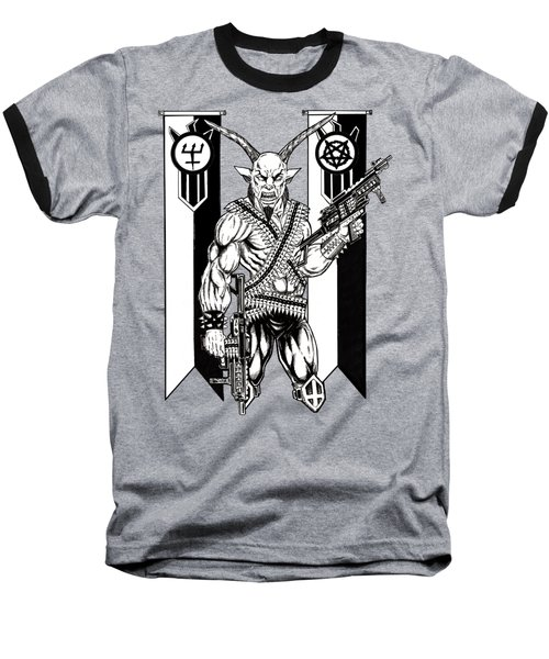 Great Goat War Baseball T-Shirt