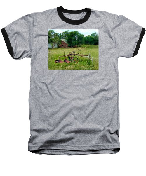 Great Grandpa's Plow Baseball T-Shirt by Ric Darrell