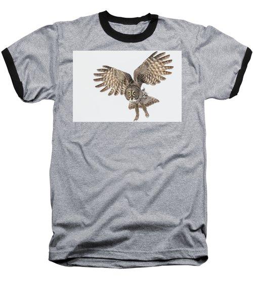 Great Grey Flight  Baseball T-Shirt
