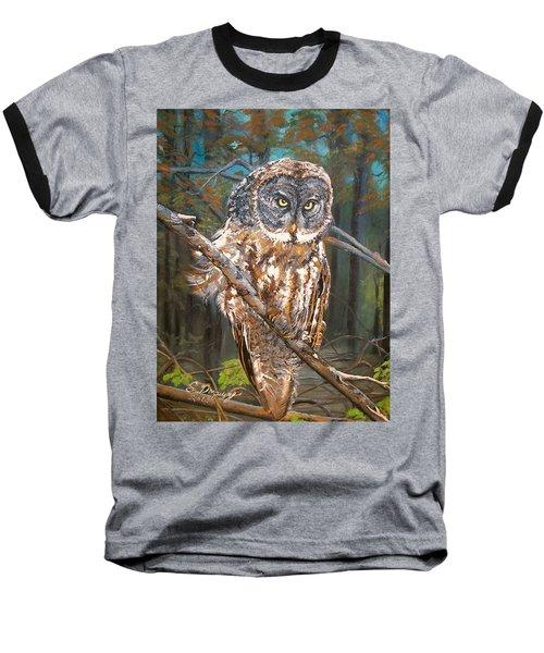 Great Grey Owl 2 Baseball T-Shirt