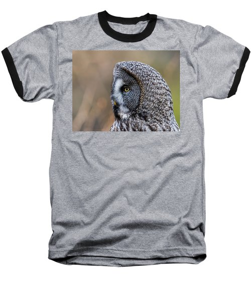 Great Grey's Profile A Closeup Baseball T-Shirt by Torbjorn Swenelius