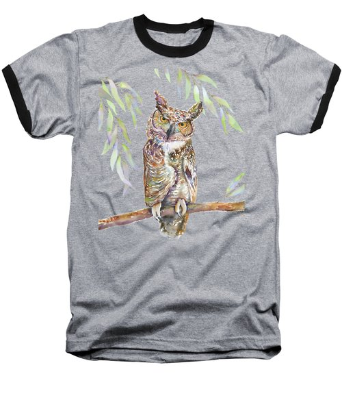 Great Horned Owl  Baseball T-Shirt by Amy Kirkpatrick