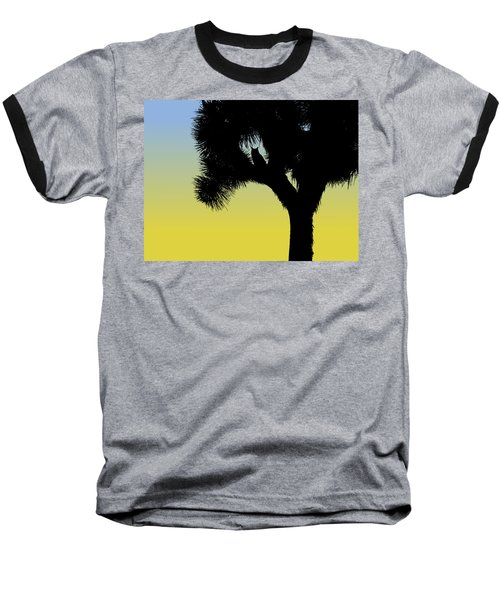 Great Horned Owl In A Joshua Tree Silhouette At Sunrise Baseball T-Shirt