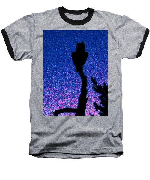 Great Horned Owl In The Desert Baseball T-Shirt
