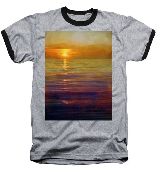 Baseball T-Shirt featuring the digital art Great Lakes Setting Sun by Michelle Calkins