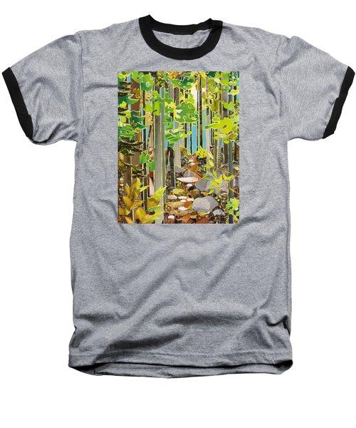 Great Maine Woods Baseball T-Shirt by Robin Birrell