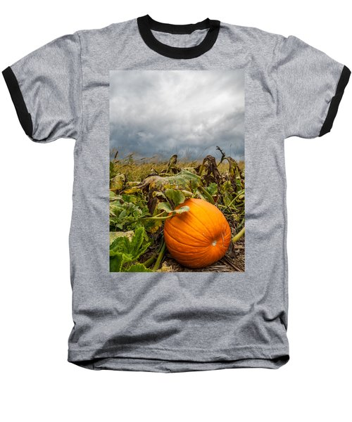 Great Pumpkin Off Center Baseball T-Shirt