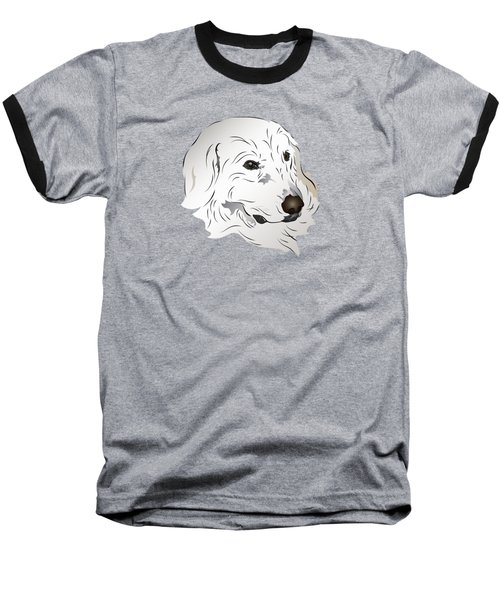 Great Pyrenees Dog Baseball T-Shirt by MM Anderson