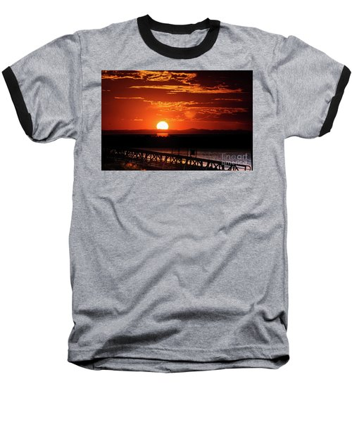 Great Salt Lake Sunset Baseball T-Shirt