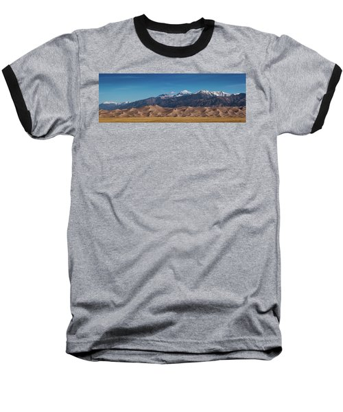 Baseball T-Shirt featuring the photograph Great Sand Dunes Panorama 3to1 by Stephen Holst