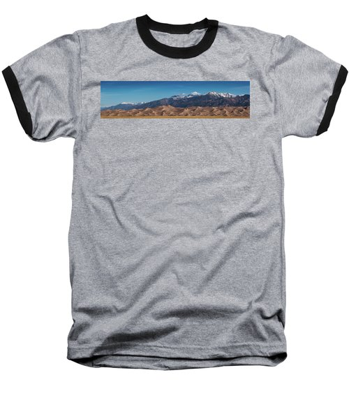 Baseball T-Shirt featuring the photograph Great Sand Dunes Panorama 4to1 by Stephen Holst