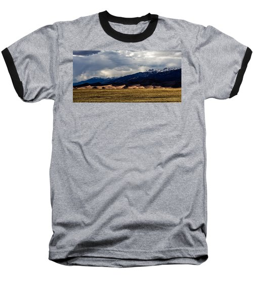 Great Sand Dunes Panorama Baseball T-Shirt