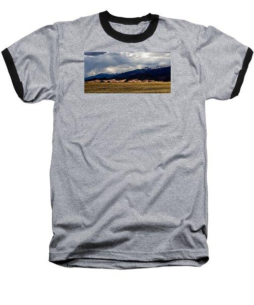 Great Sand Dunes Panorama Baseball T-Shirt