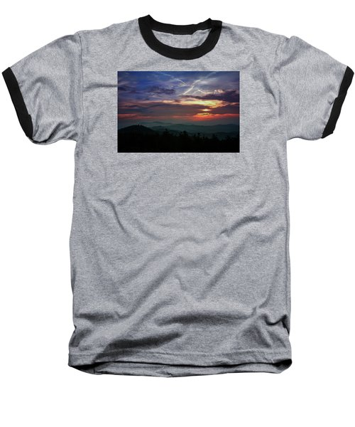 Baseball T-Shirt featuring the photograph Great Smoky Sunsets by Jessica Brawley