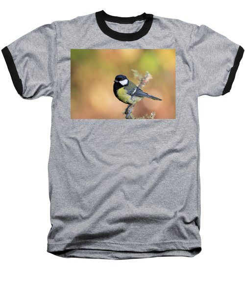 Great Tit - Parus Major Baseball T-Shirt