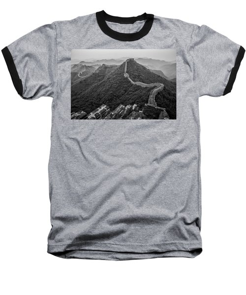 Baseball T-Shirt featuring the photograph Great Wall 2, Jinshanling, 2016 by Hitendra SINKAR