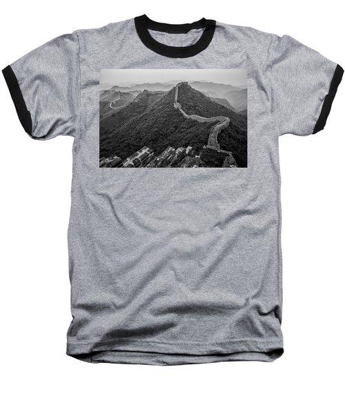 Baseball T-Shirt featuring the photograph Great Wall 2, Jinshanling, 2016 by Hitendra SINKAR