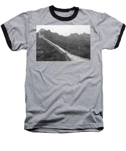 Baseball T-Shirt featuring the photograph Great Wall 4, Jinshanling, 2016 by Hitendra SINKAR