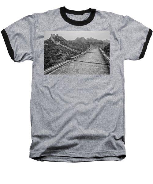 Baseball T-Shirt featuring the photograph Great Wall 5, Jinshanling, 2016 by Hitendra SINKAR
