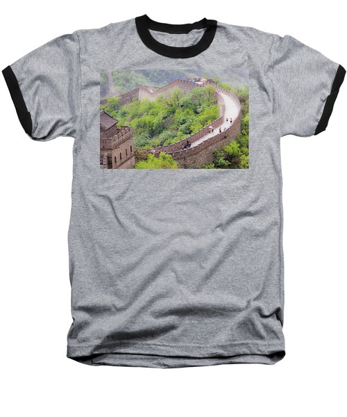Great Wall At Badaling Baseball T-Shirt