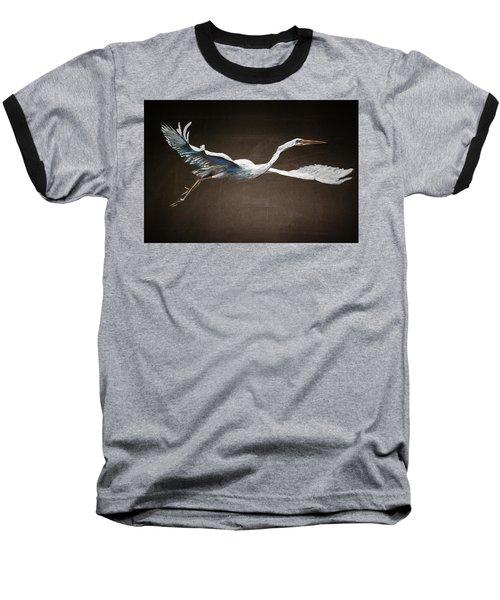 Great White Heron Baseball T-Shirt