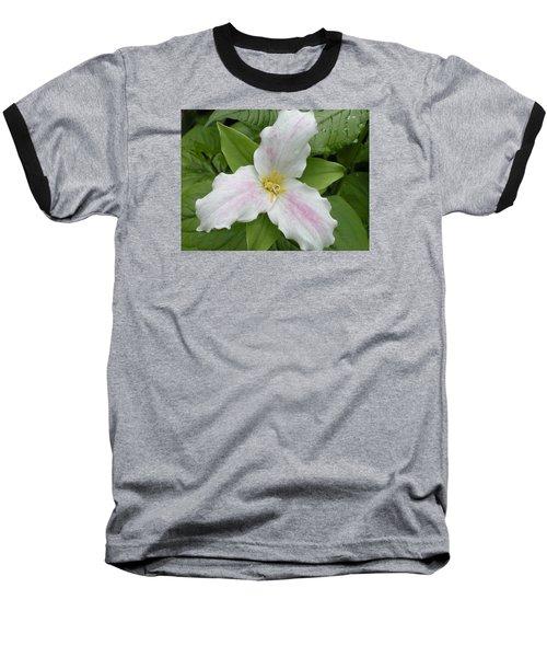 Great White Trillium Baseball T-Shirt