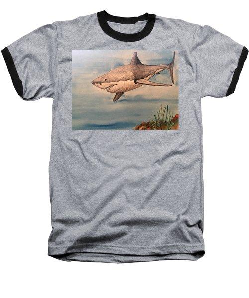 Great White Shark Baseball T-Shirt