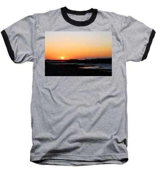 Greater Prudhoe Bay Sunrise Baseball T-Shirt by Anthony Jones