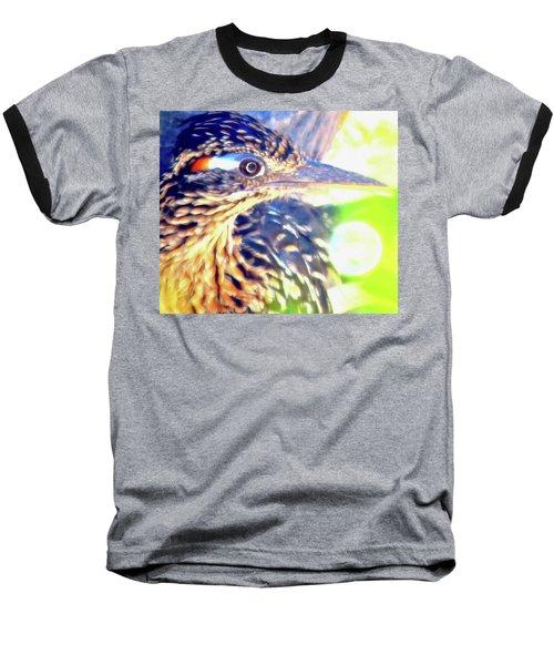 Greater Roadrunner Portrait 2 Baseball T-Shirt