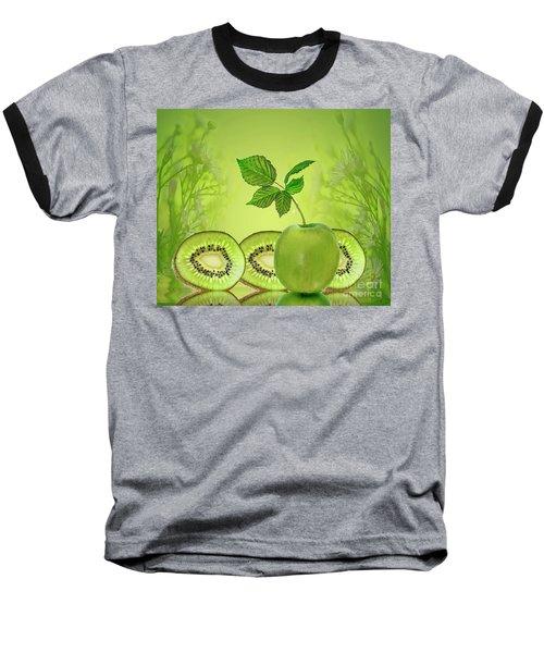 Greeeeeen Baseball T-Shirt by Shirley Mangini