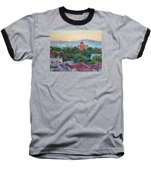 Greek Orthodox Sunset Baseball T-Shirt