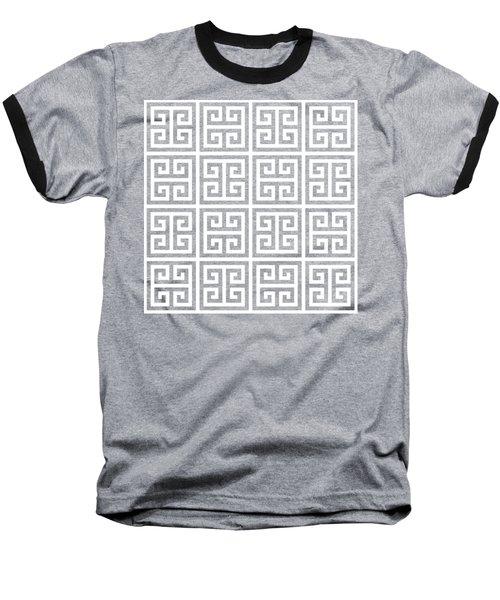 Baseball T-Shirt featuring the digital art Greek Pattern 2 - Chuck Staley by Chuck Staley