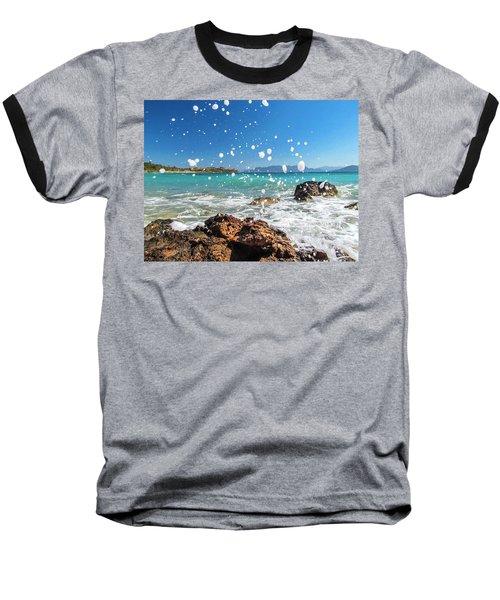 Greek Surf Spray Baseball T-Shirt