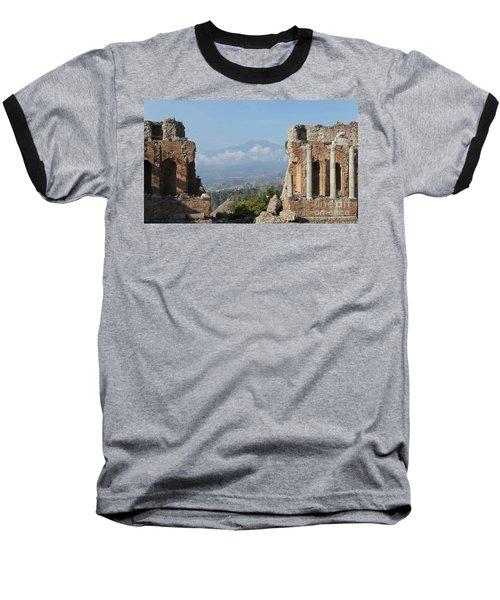 Greek Theatre Taormina Baseball T-Shirt